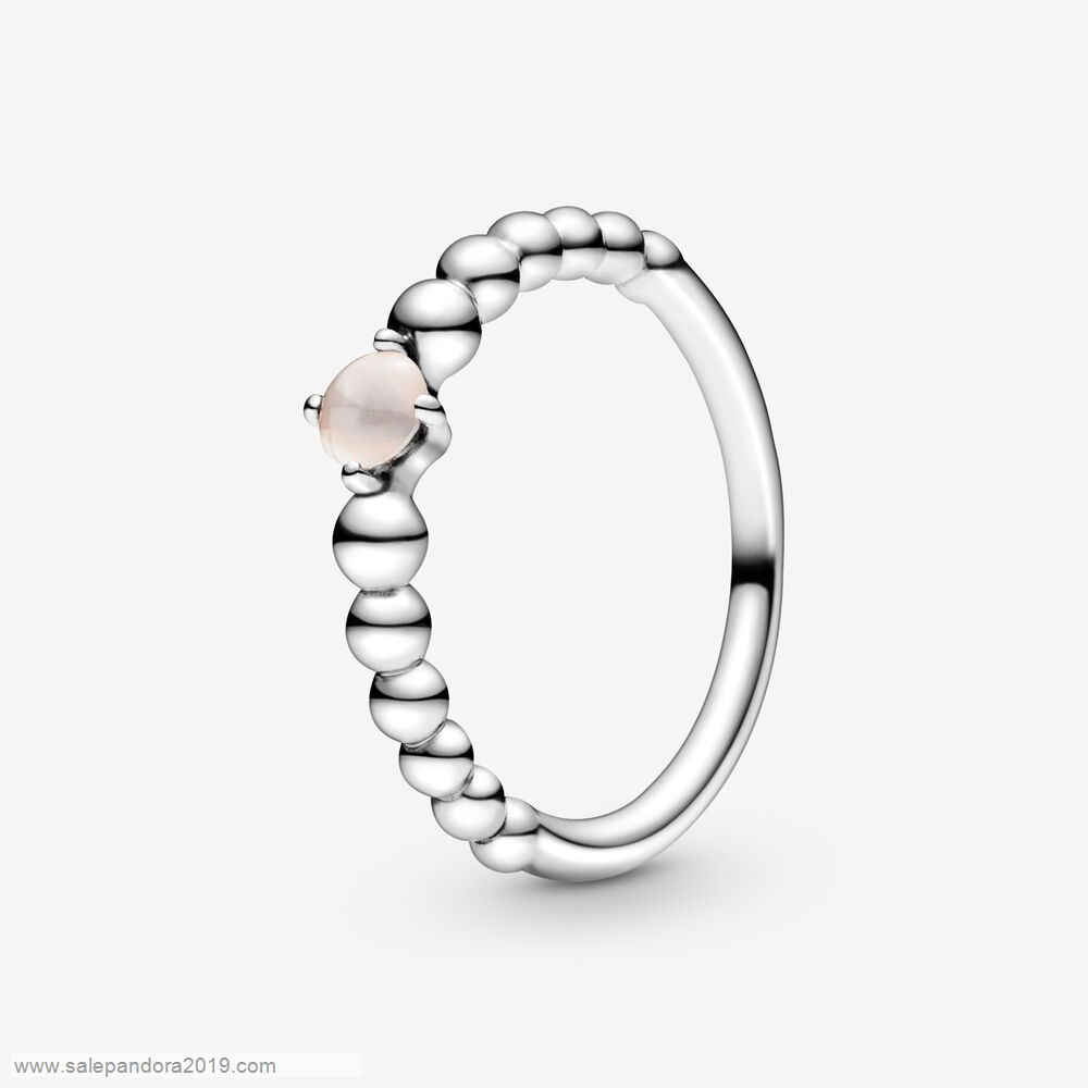 Premade Pandora Misty Rose Beaded Ring