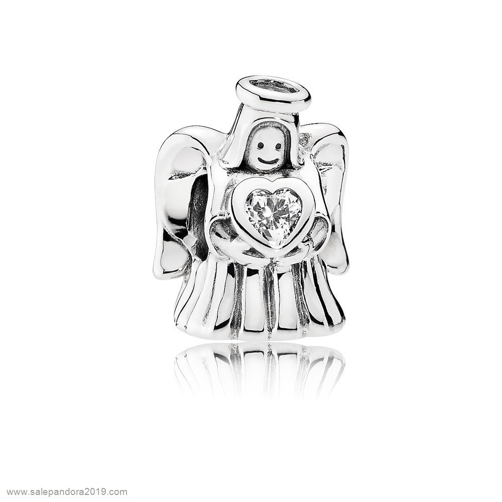 Premade Pandora Pandora Holidays Charms Christmas Angel Of Love Charm Clear Cz