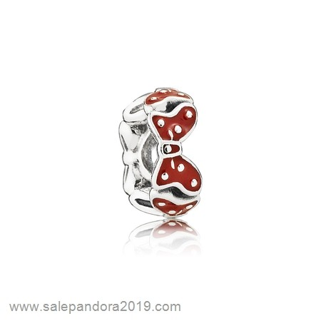 Premade Pandora Pandora Spacers Charms Disney Minnie'S Bows Spacer Red White Enamel